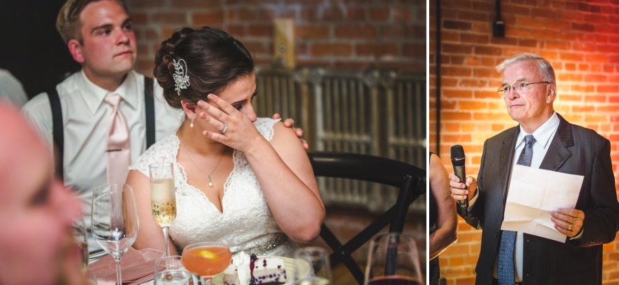 calgary charbar restaurant wedding bride dad crying