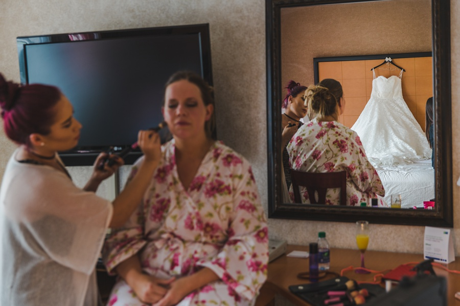 bride getting ready dress geeky heritage park wedding calgary