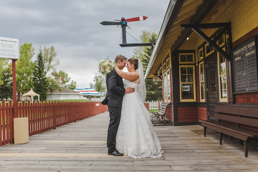 geeky heritage park wedding calgary train station