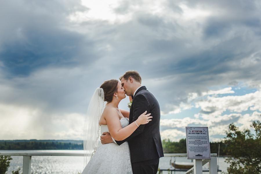 geeky heritage park wedding calgary bride groom kissing