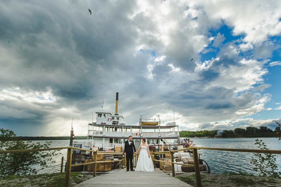 geeky heritage park wedding calgary ferry boat ship