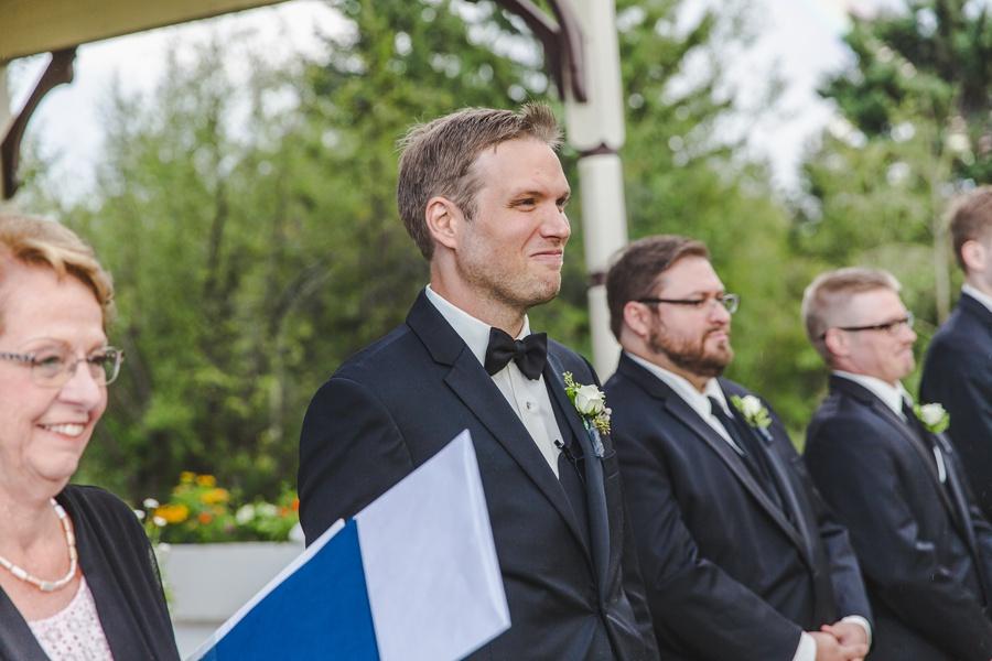 geeky heritage park wedding calgary groom sees bride