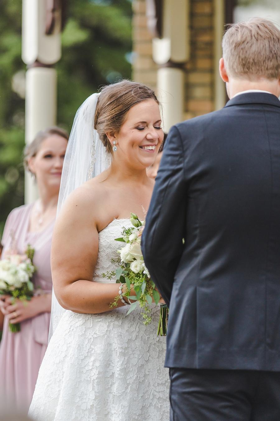 bride laughing geeky heritage park wedding calgary