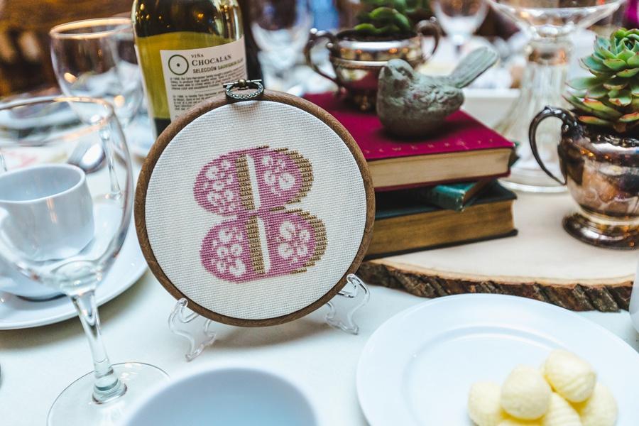 crochet table numbers geeky heritage park wedding calgary