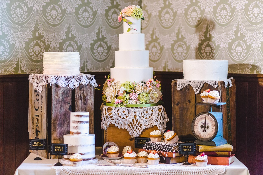 wedding cake florals geeky heritage park wedding calgary