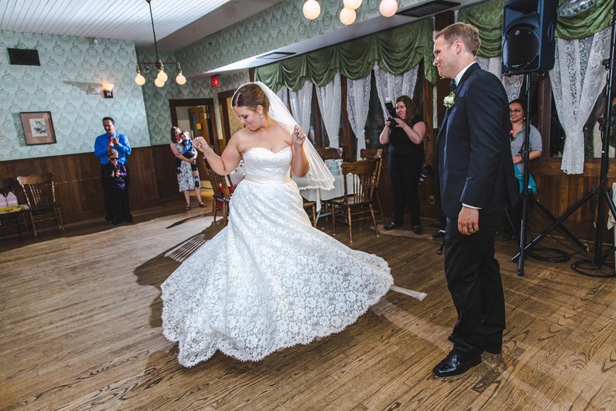 first dance wainwright hotel geeky heritage park wedding calgary