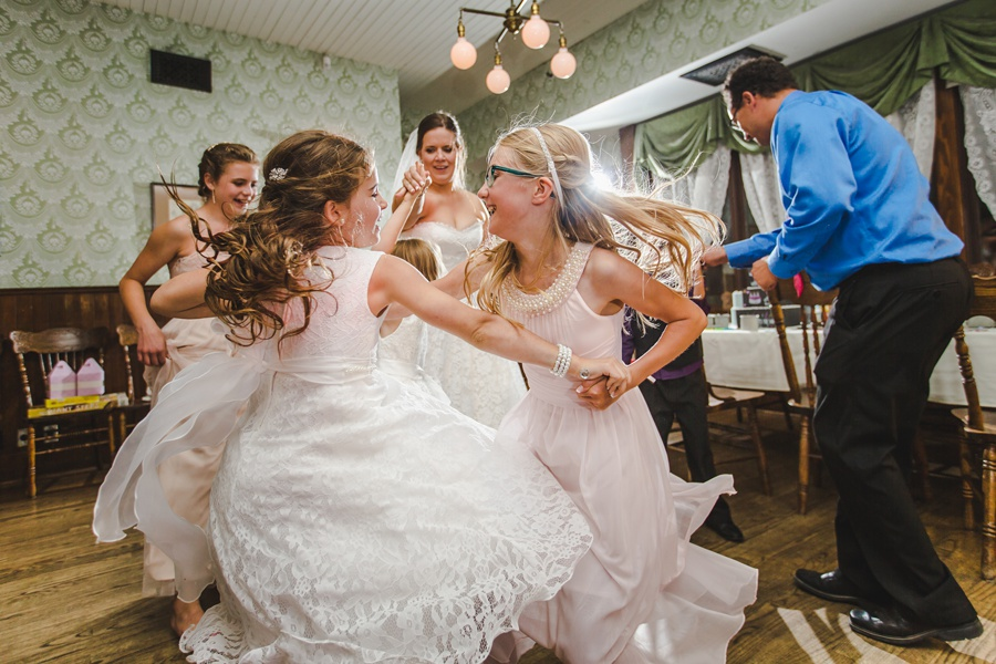 children girls dancing geeky heritage park wedding calgary