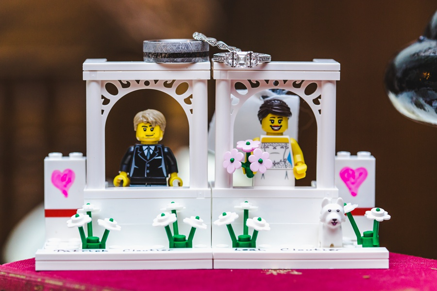 geeky heritage park wedding calgary lego cake topper