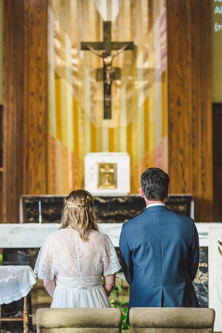 calgary wedding photographers St Joseph Catholic Church cross