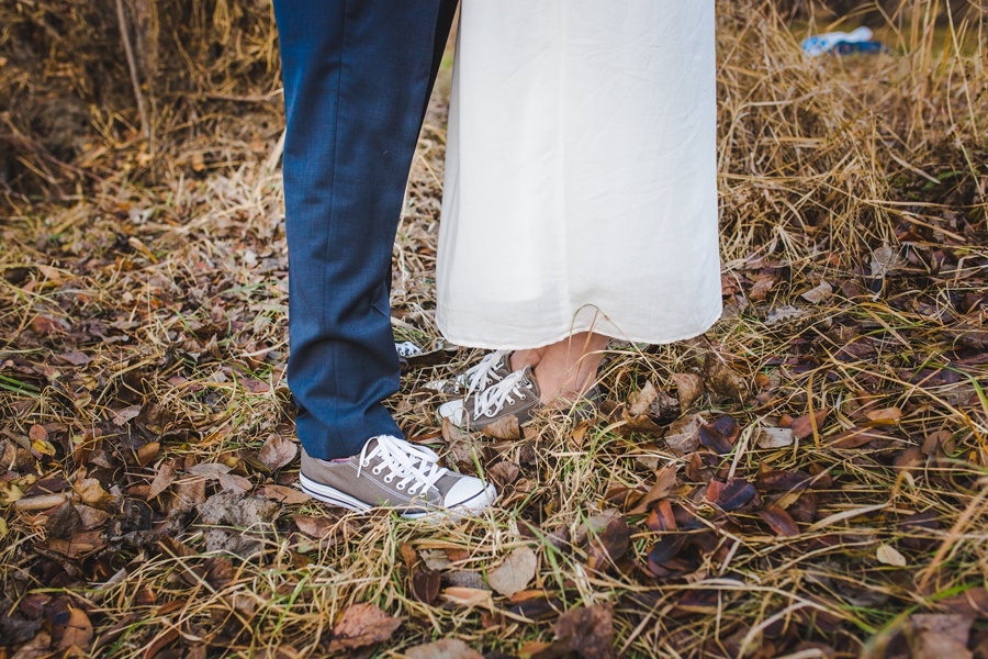 calgary wedding photographers winter wedding grey converse sneakers