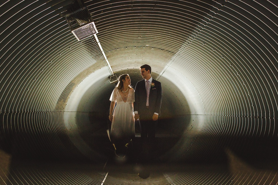 calgary wedding photographers winter wedding tunnel confederation park