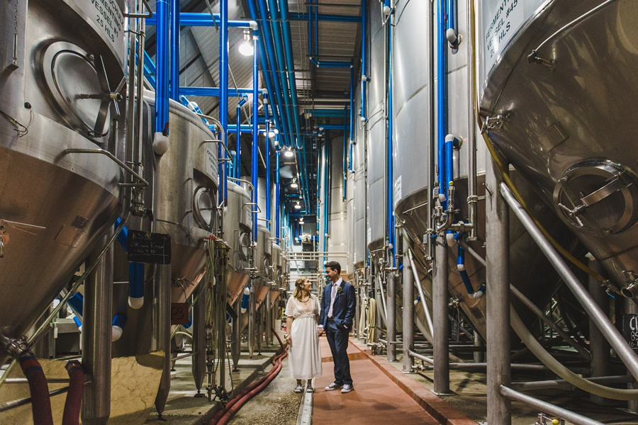big rock brewery calgary wedding beer bride groom