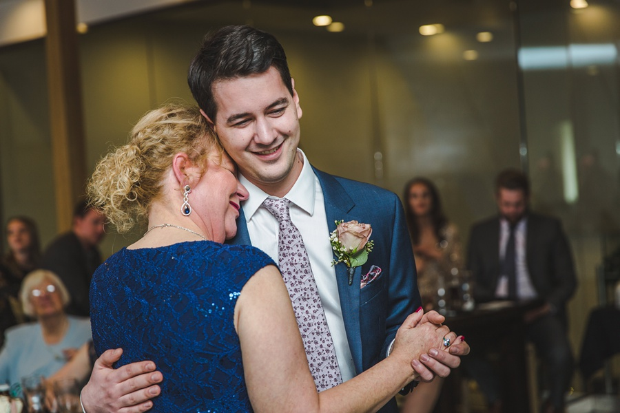 big rock brewery calgary wedding mother son dance groom