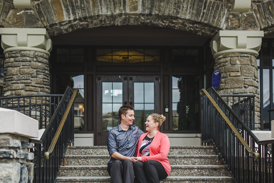 banff springs engagement photos cute couple anna michalska
