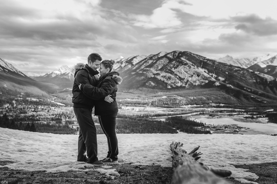 banff springs engagement photos mount norquay