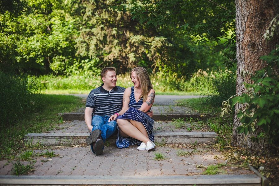 calgary engagement session fish creek park laughter cute couple summer