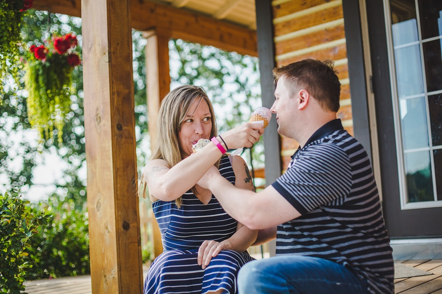 calgary engagement session fish creek park annie's cafe ice cream
