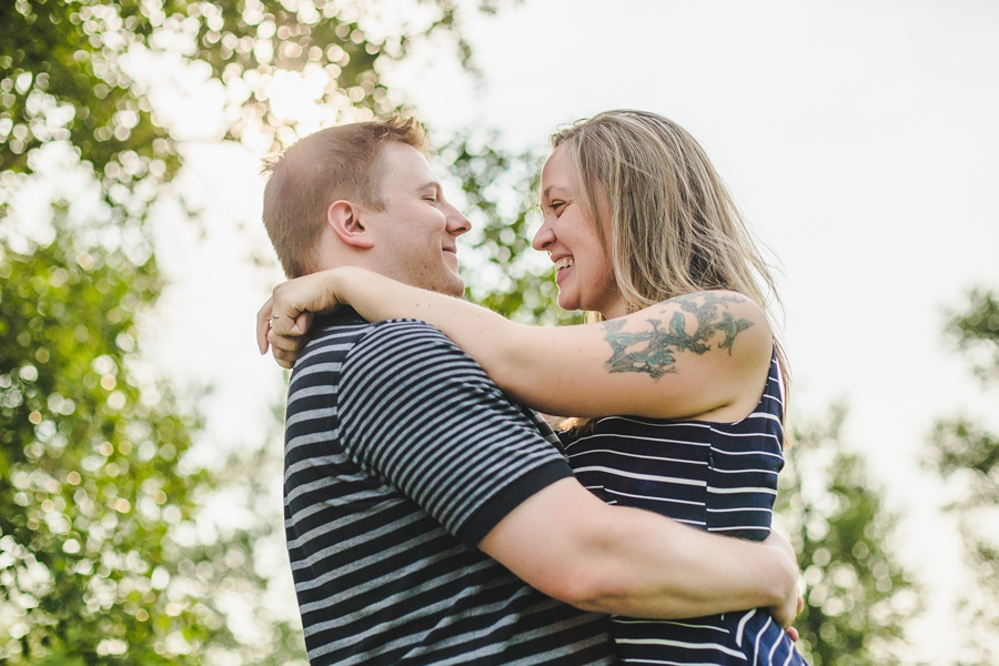 calgary engagement session fish creek park tattoo bride couple laugh
