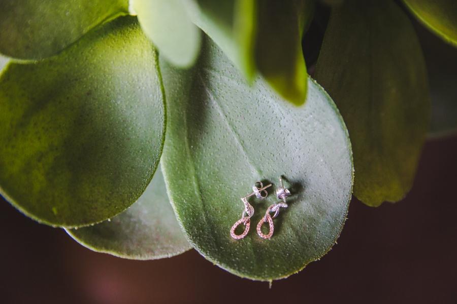 stacey mike burrowing owl estate winery wedding pink earrings