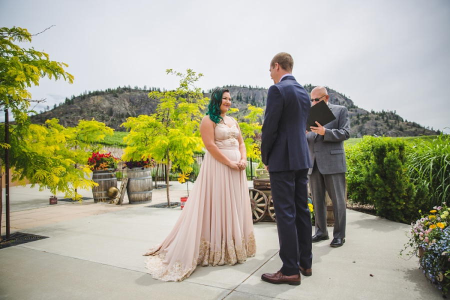 burrowing owl estate winery wedding vows mountains