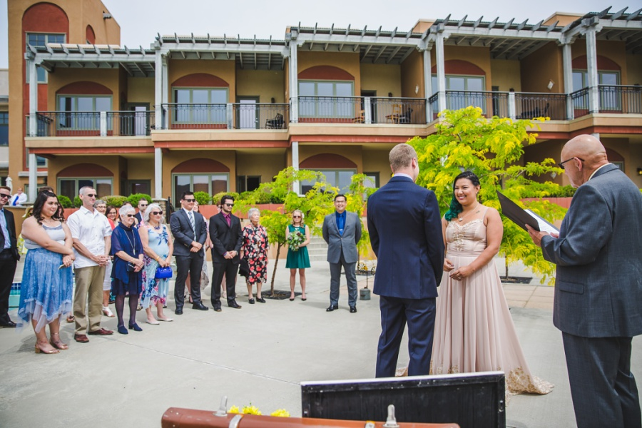 burrowing owl estate winery wedding family ceremony