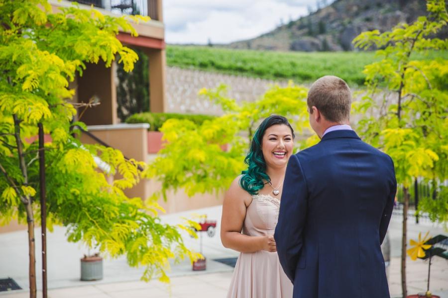 burrowing owl estate winery wedding bride personal vows