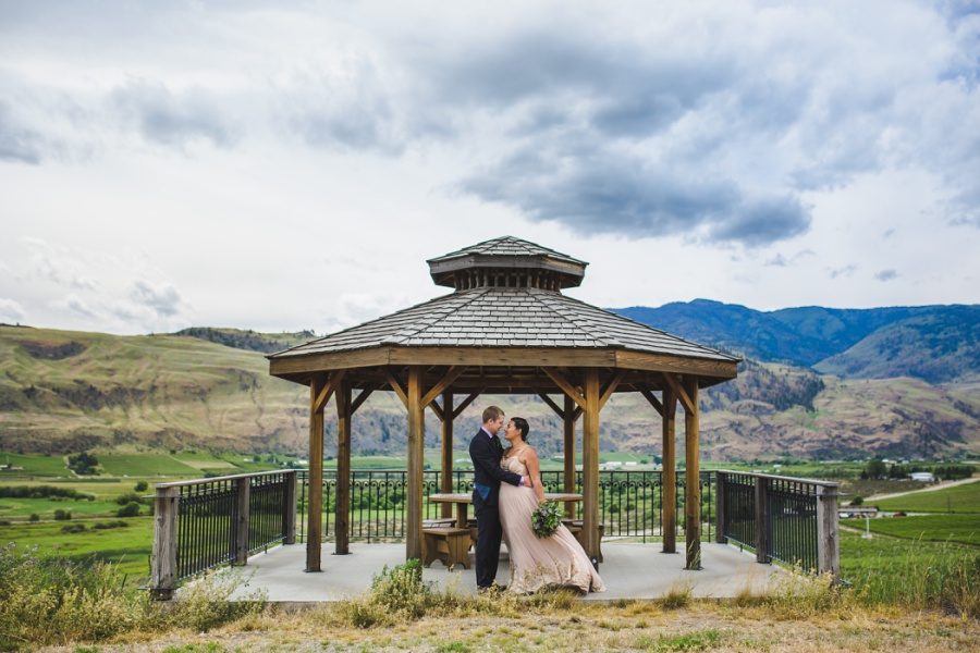 burrowing owl estate winery wedding stormy skies gazebo