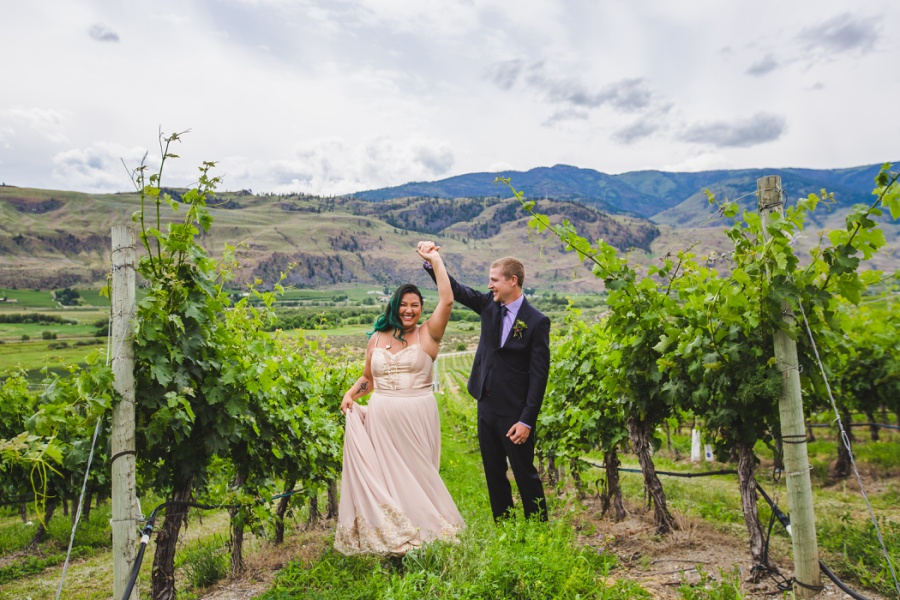 burrowing owl estate winery wedding dancing bride groom