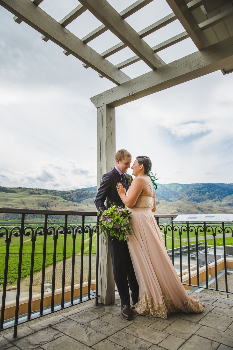burrowing owl estate winery wedding stormy skies
