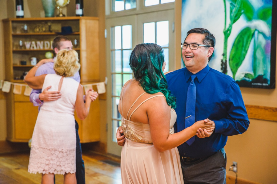 burrowing owl estate winery wedding father daughter dance