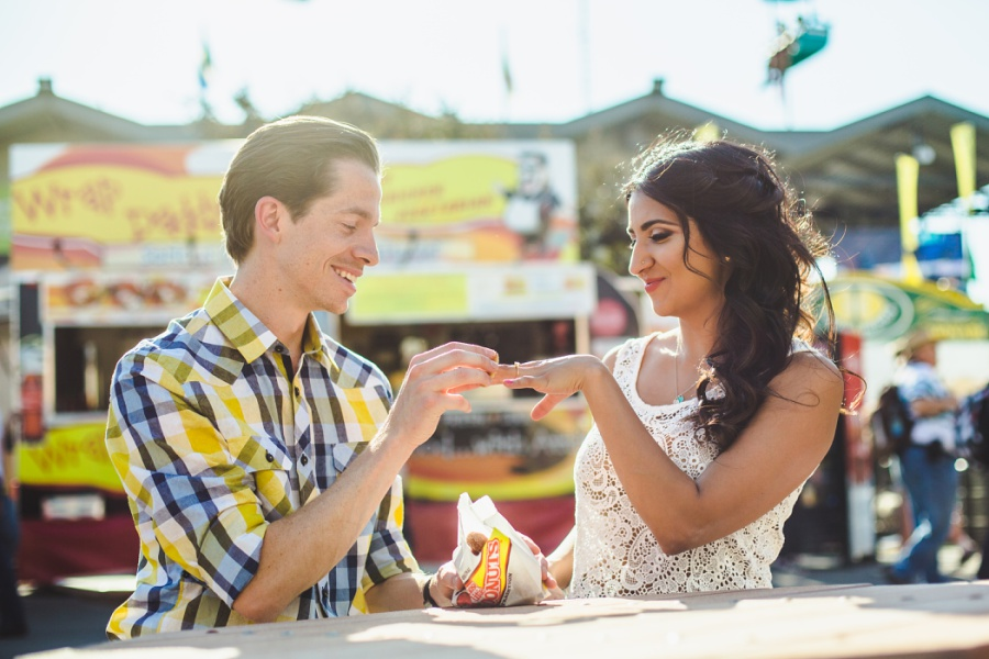 calgary stampede engagement photos mini donut proposal