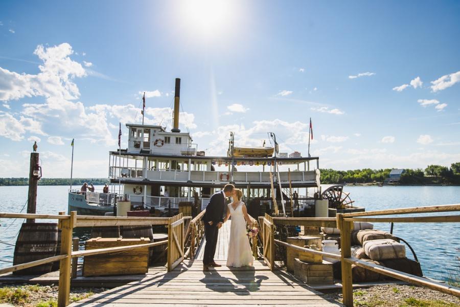 st. martin's church heritage park wedding calgary boat dock ferry