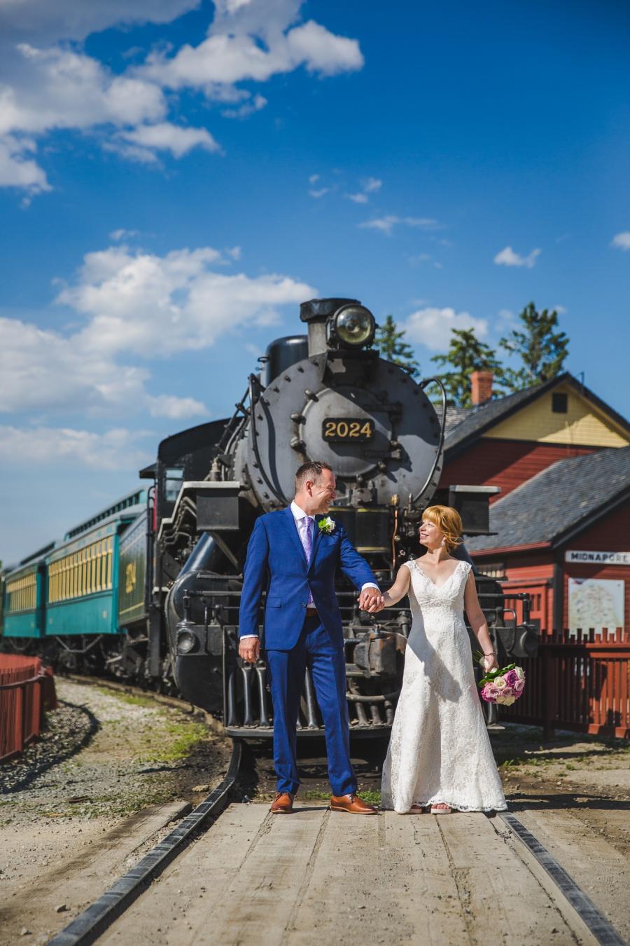 st. martin's church heritage park wedding calgary train antique