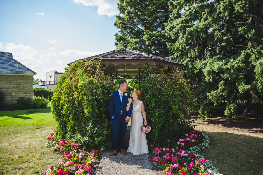st. martin's church heritage park wedding calgary green gazebo