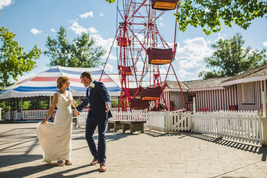 st. martin's church heritage park wedding calgary midway ferris wheel