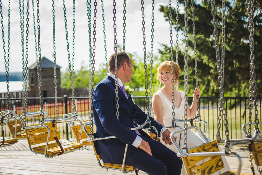 st. martin's church heritage park wedding calgary bride swings