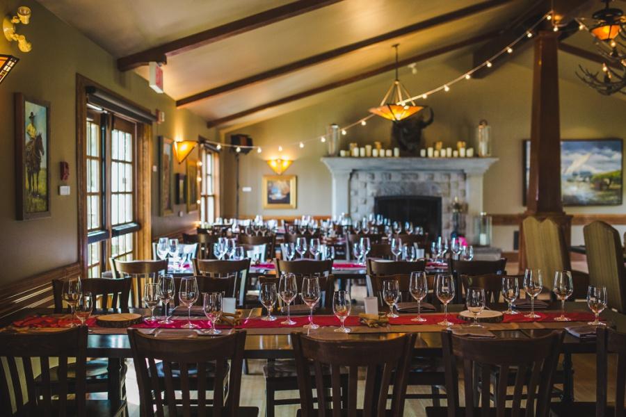 calgary ranche restaurant wedding photographer main dining hall