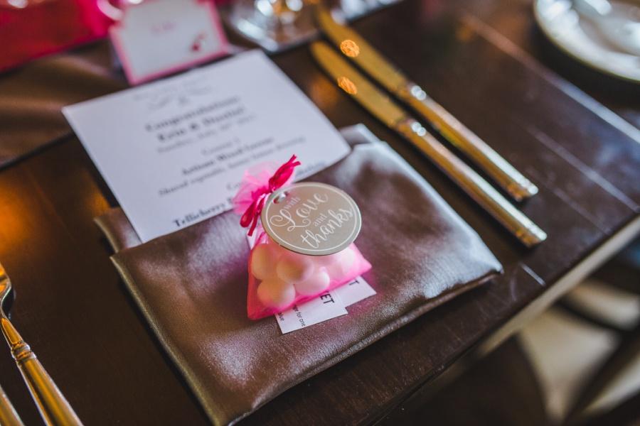 calgary ranche restaurant wedding photographer mint wedding favors