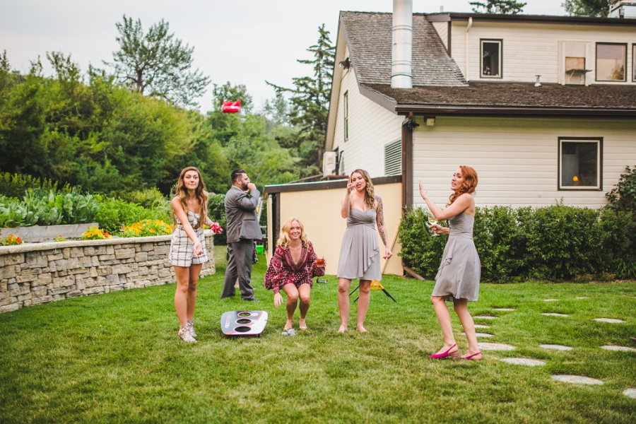 calgary ranche restaurant wedding photographer lawn gamers cornhole