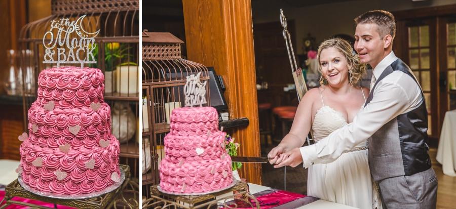 calgary ranche restaurant wedding photographer cake cutting greatevents