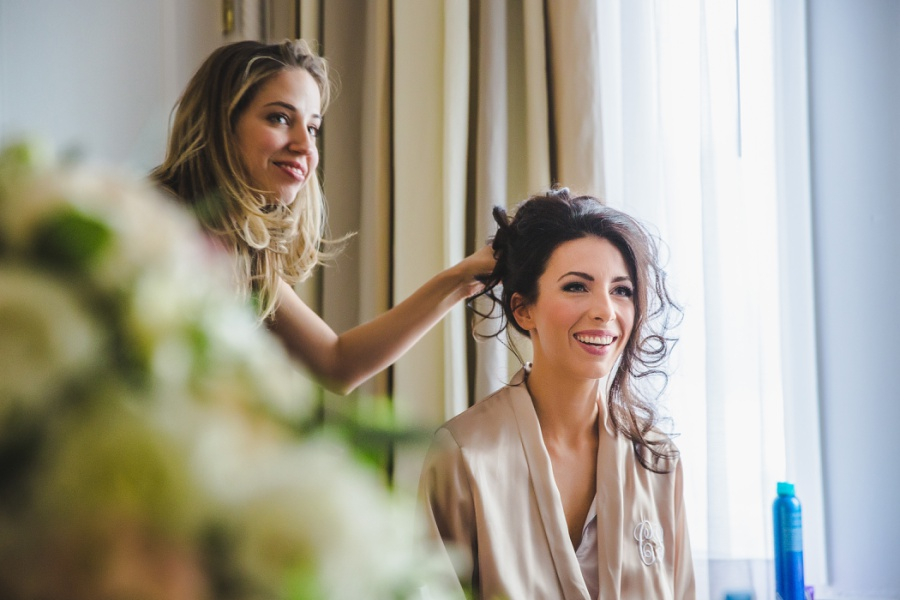 calgary wedding top knot brides getting ready photography