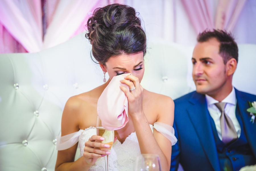 fairmont palliser calgary wedding bride crying at speech