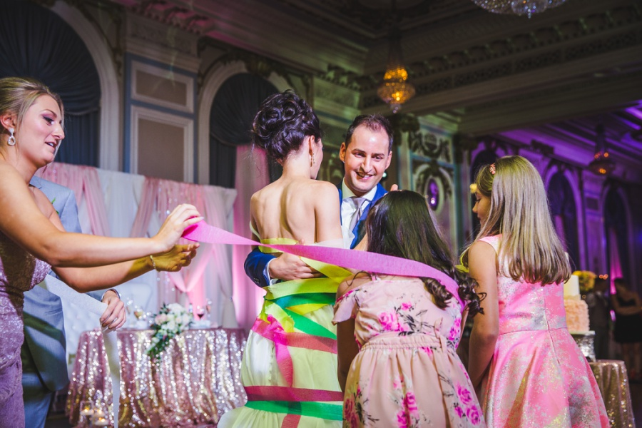 fairmont palliser calgary wedding italian first dance ribbons