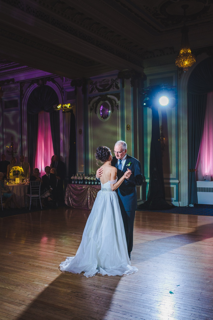 fairmont palliser calgary wedding bride dancing with father