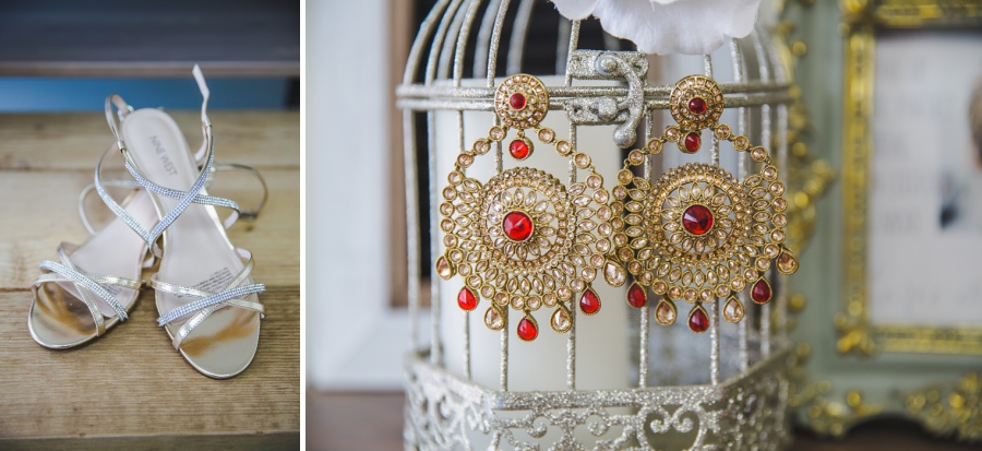calgary sikh wedding zoo platform shoes gold and red earrings
