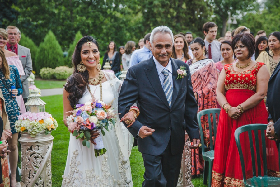 calgary sikh wedding zoo bride with dad white sari