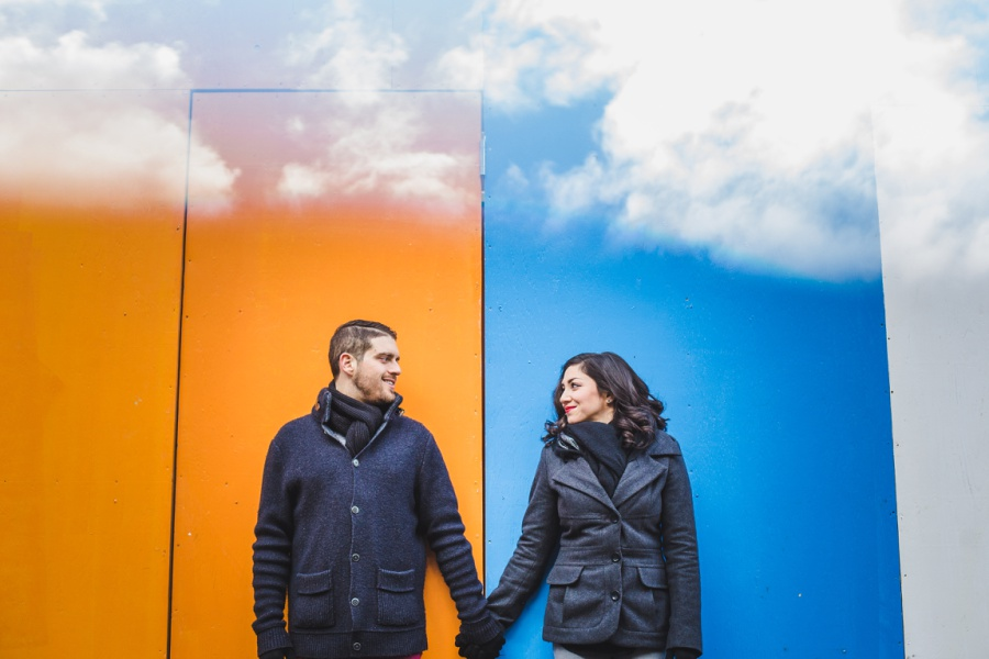 calgary stephen ave engagement session photos winter