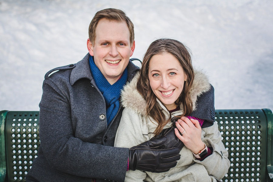 calgary bowness ice skating engagement photos winter couple