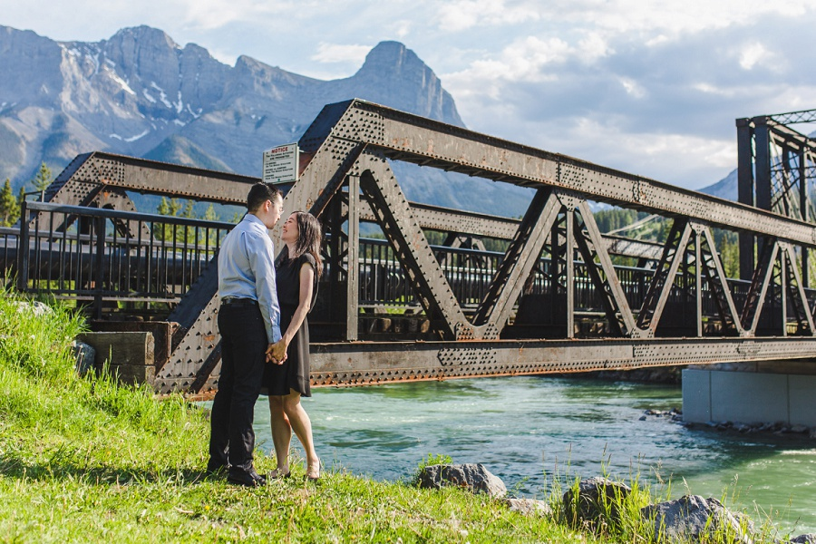 Andrea + Nathan | Canmore Engine Bridge Engagement Session
