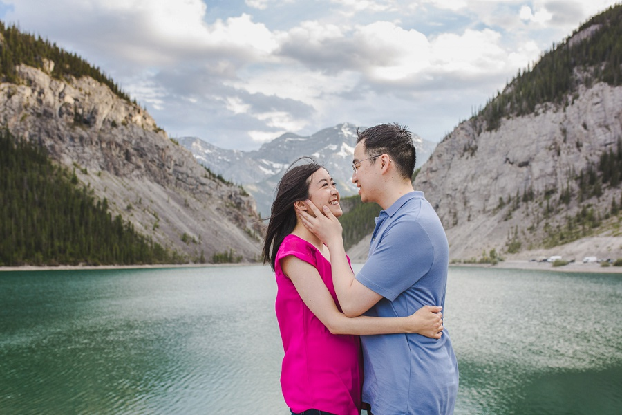 canmore emerald lake mountains engagement photos